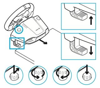Sistema de sujeción de volante