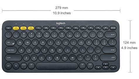 TECLADO <em>BLUETOOTH</em> MULTIDISPOSITIVO K380