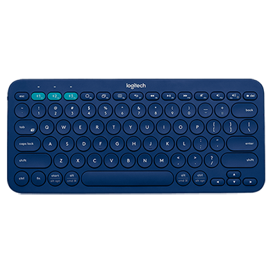 K380 Multi-Device, blue, top view