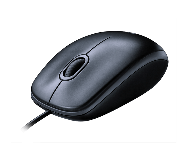 Mouse M90 black mouse product right angle shot