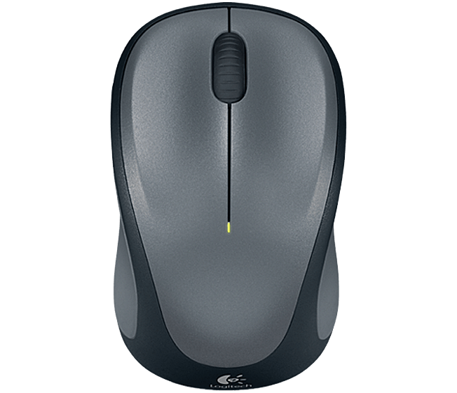 Wireless Mouse M235 Grey, top view