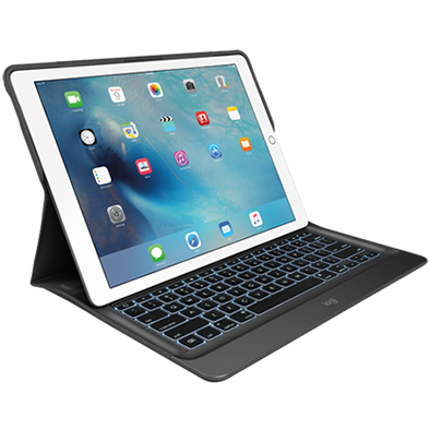 CREATE Backlit Keyboard with Smart Connector for iPad Pro, black color front view