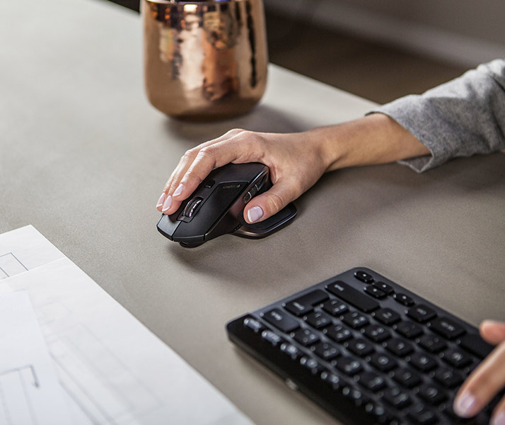 MX Master wireless mouse at work