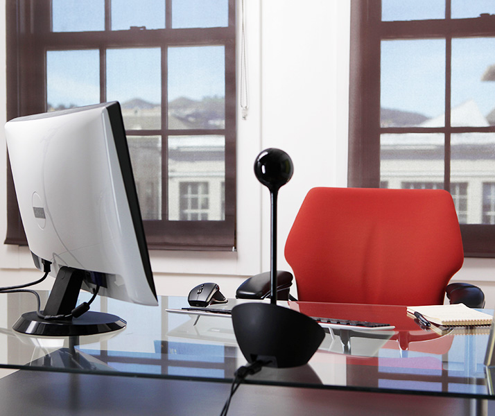 ConferenceCam BCC950 on desk