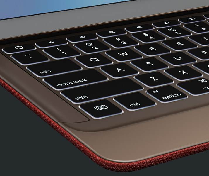 Partial view of the CREATE keyboard for the iPad