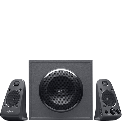 powerful thx sound z625 speaker system with subwoofer and optical input 16999 blackweb 20 powerful speaker system
