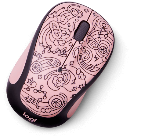 Logitech M325C Wireless Mouse for Doodle Collection, Fun