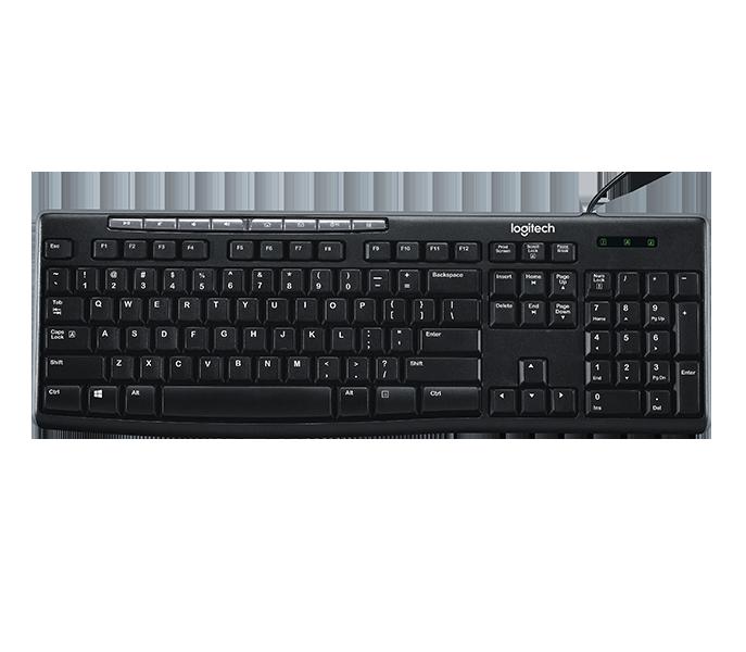 Logitech K200 USB Business Keyboard with Media Hot Keys