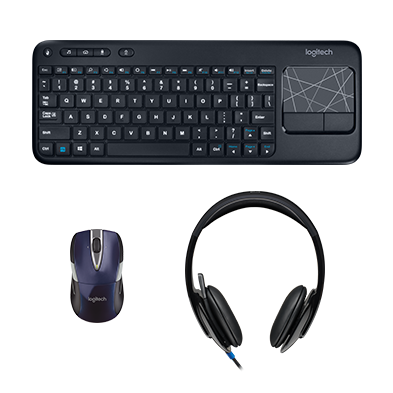 0daf76ec7c5 Digital Office Pro Bundle Wireless mouse, wireless keyboard, USB stereo  headset $ 129.97 $ 89.99. Compare. Logitech Wireless Wave Combo ...