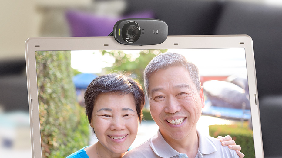 Logitech C310 HD Webcam 720p Video with Lighting Correction
