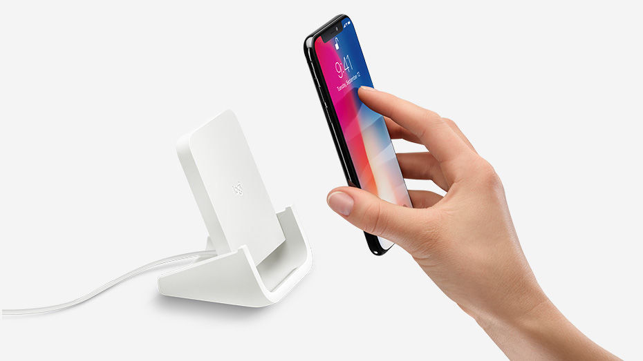 Logitech POWERED iPhone Wireless Charging Stand, Qi-Certified