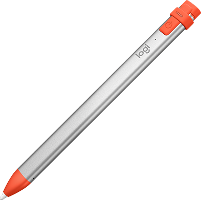 Crayon Digital Pencil angled - Orange