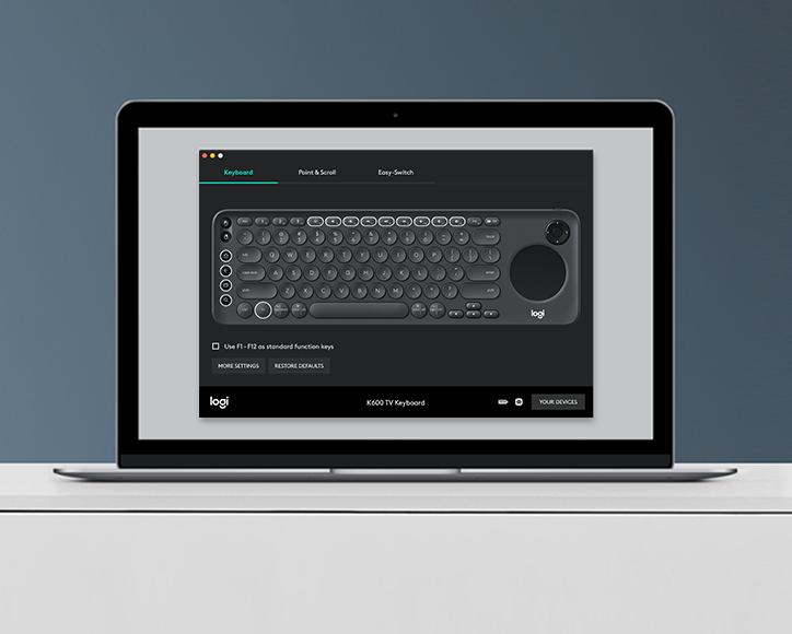 Logitech K600 Smart TV Keyboard, TV, PC & HTPC Remote Keyboard