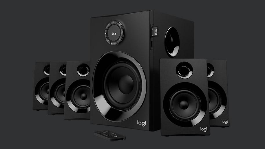 4def1dd354d Logitech Z607 5.1 Surround Sound Speakers with Bluetooth