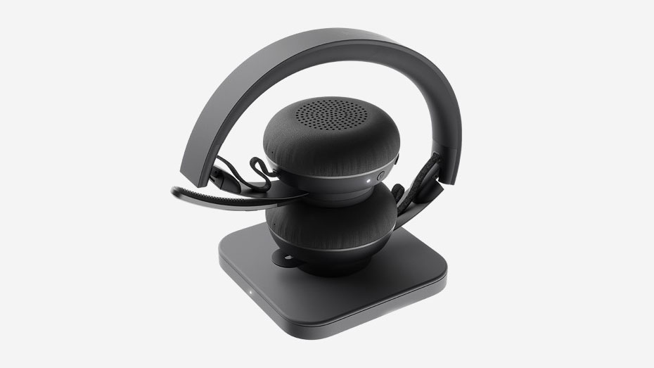 Logitech Zone Wireless Headset + Wireless Qi Charging Base 5