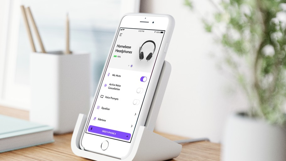 Logitech Zone Wireless Headset + Wireless Qi Charging Base 10