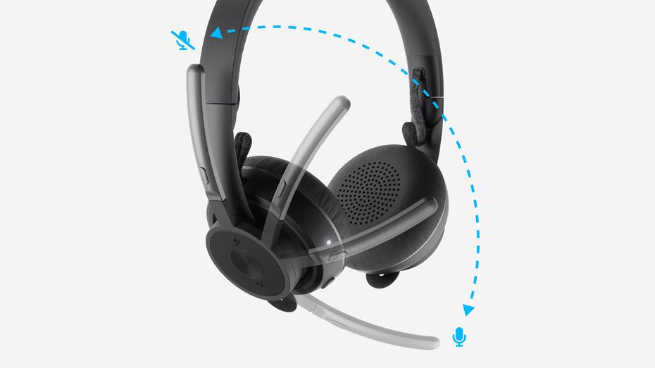 Logitech Zone Wireless Headset + Wireless Qi Charging Base 3