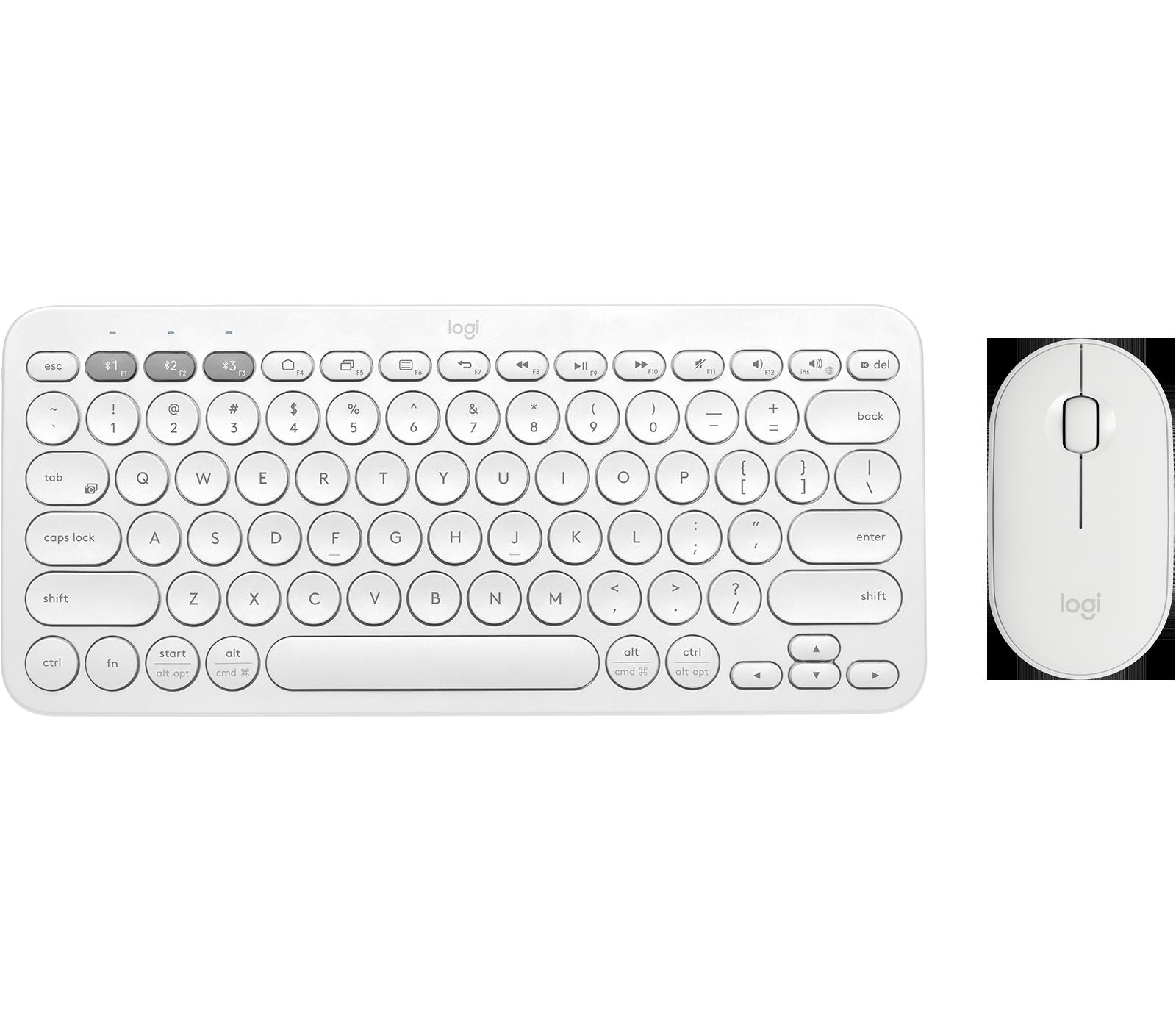 Logitech K380 + M350 | Trådløst tastatursett