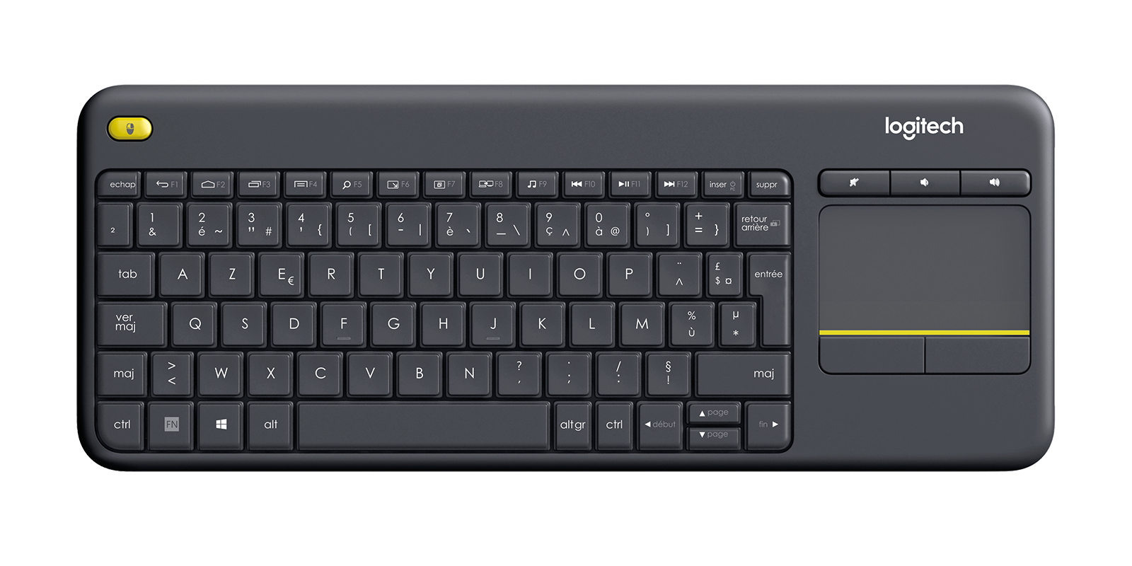 Logitech K400 Plus Touchpad Keyboard for TV connected PC