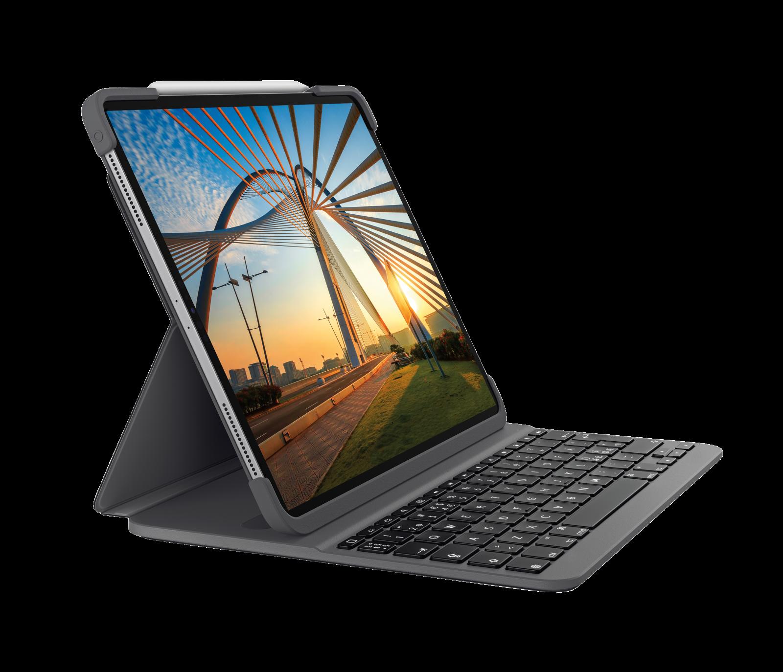 Logitech Slim Folio Pro – Tastatur Case für iPad Pro