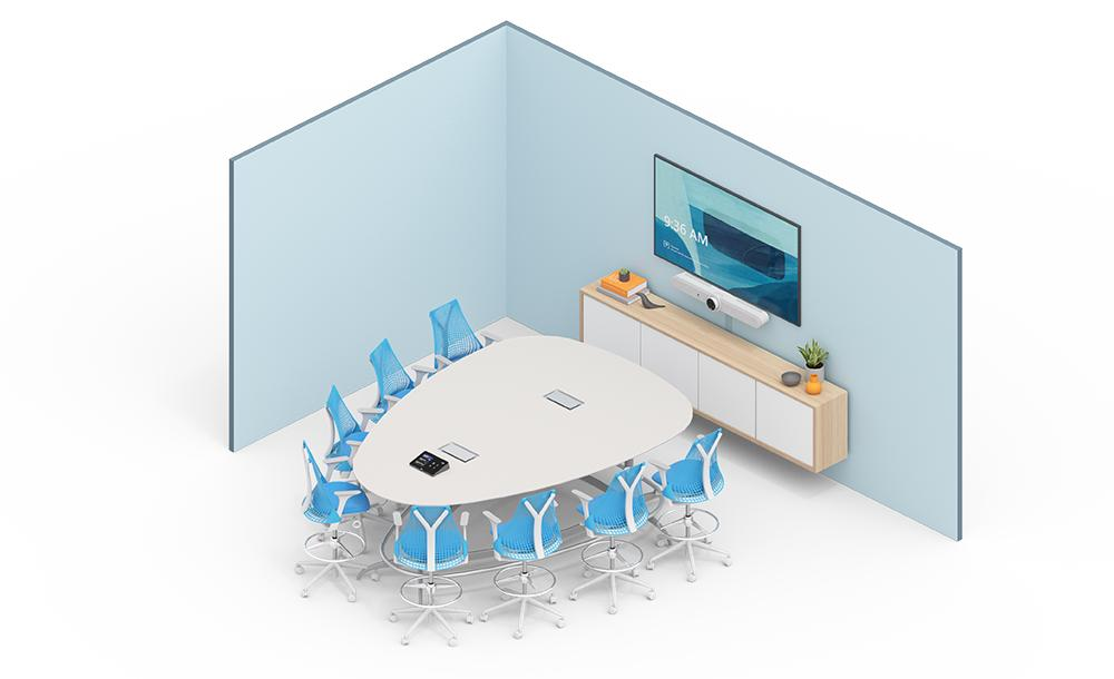 Illustration of medium conference room setup