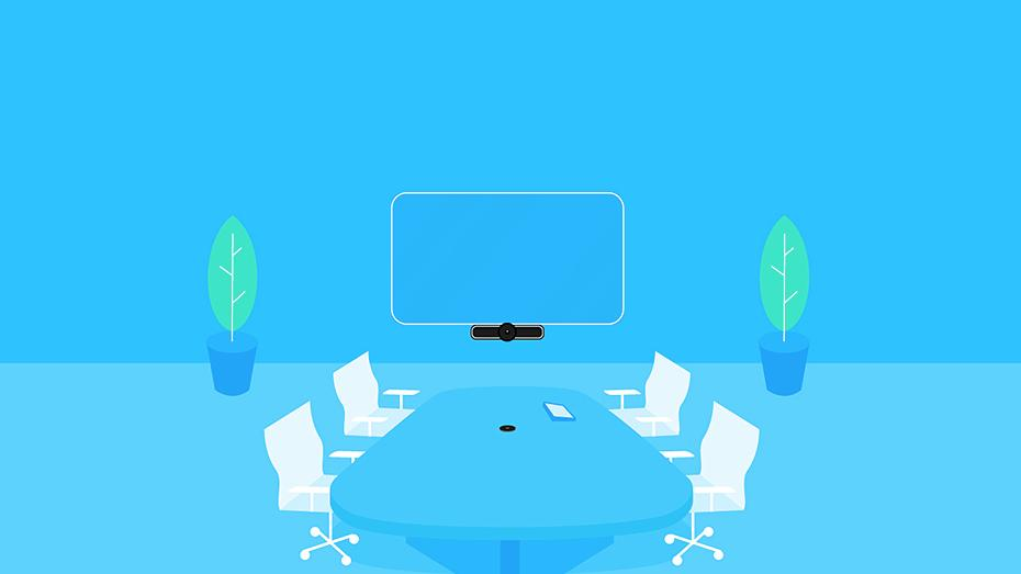 Illustration of conference room