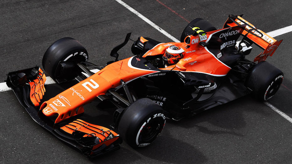 Silverstone, Northamptonshire, UK. Friday 14 July 2017. Stoffel Vandoorne, McLaren MCL32 Honda. Photo: Sutton/McLaren ref: Digital Image SUT_British_Grand__1507012