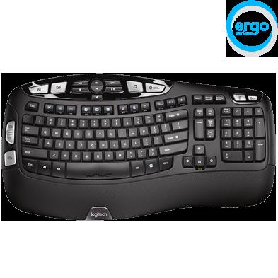Logitech K350 Wireless Wave Keyboard With Palm Rest